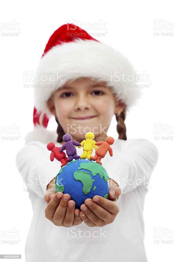 Eine Welt von glücklichen Menschen im Weihnachts-Konzept – Foto