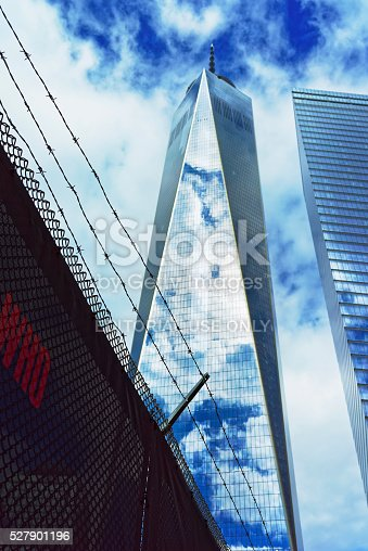 istock One World Trade Center and inscription 527901196