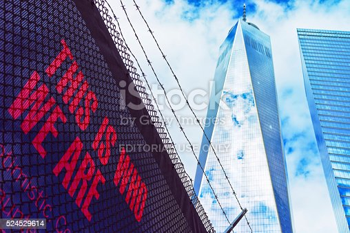 istock One World Trade Center and Lettering 524529614