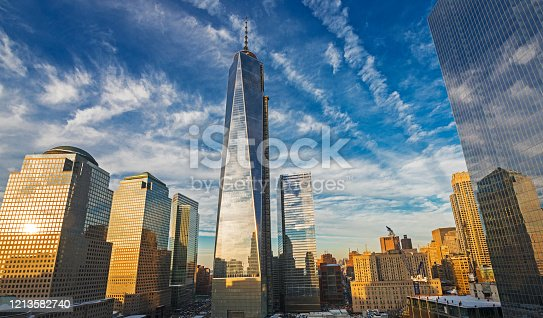 One World Trade Center at sunset, New York