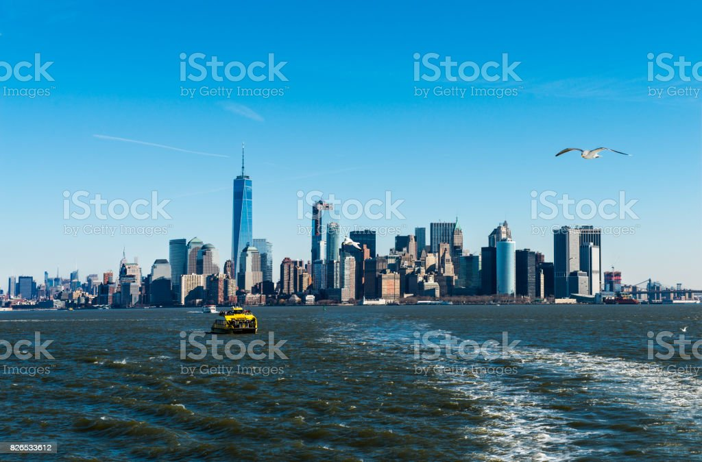 One World Trade Center in Financial District, Lower Manhattan in New York City stock photo