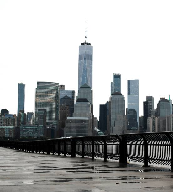 One World Trade Center in the Financial District, Manhattan, New York City stock photo