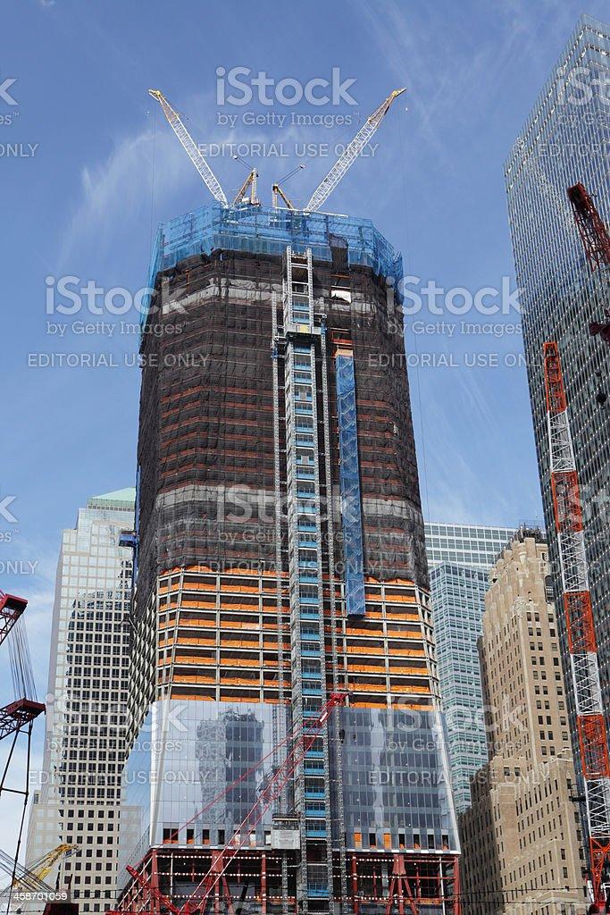 One World Trade Center New York under construction royalty-free stock photo