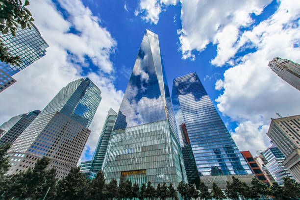 One World Trade Center (New York Manhattan) One World Trade Center (New York Manhattan). Shooting Location: Manhattan, New York manhattan financial district stock pictures, royalty-free photos & images