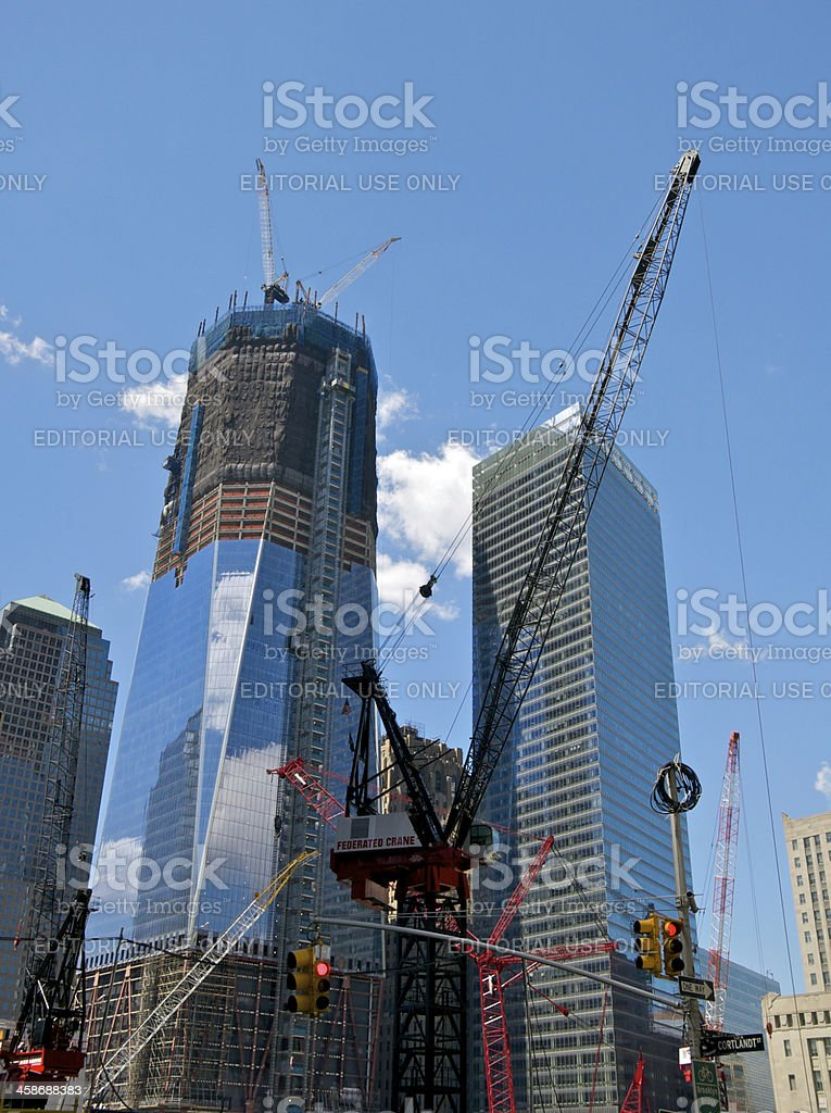One World Trade Center Rising At Over 70 Floors Nyc Stock