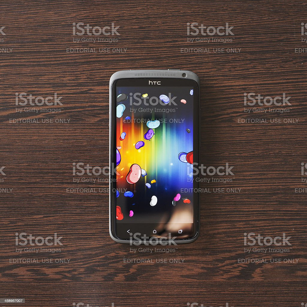 HTC One X running Android 4.1.2 Jelly Bean royalty-free stock photo