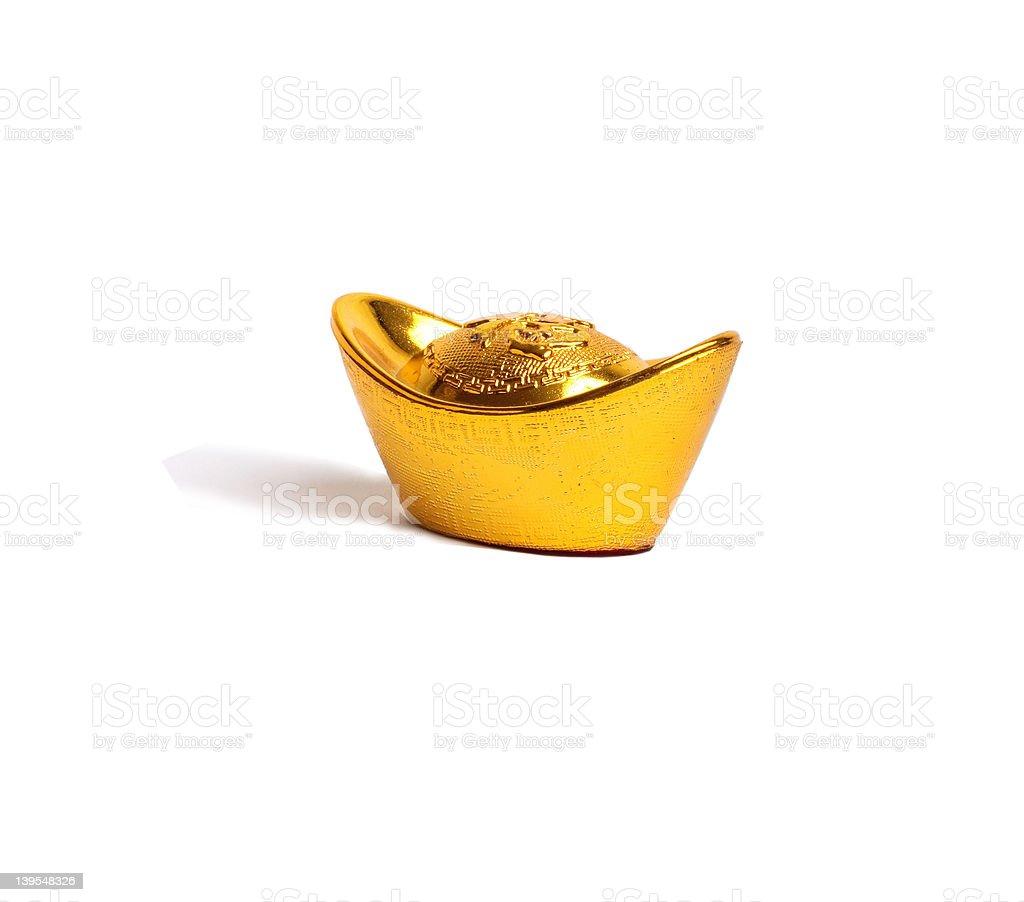 One Yauns (Ingot) royalty-free stock photo