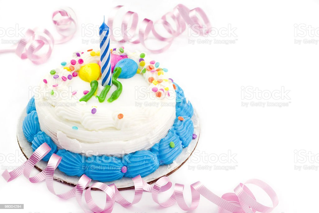 One Year Birthday Cake royalty-free stock photo