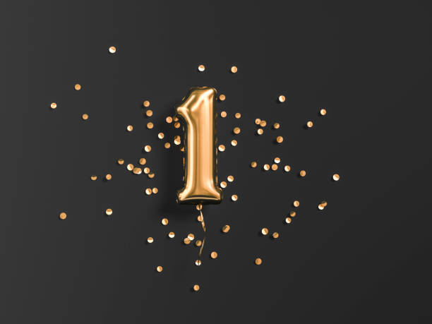 one year birthday. - number 1 stock pictures, royalty-free photos & images