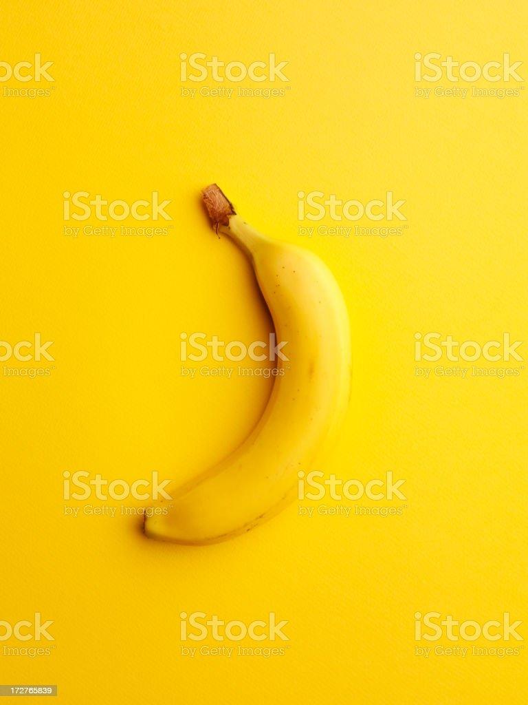 Um amarelo Banana - fotografia de stock