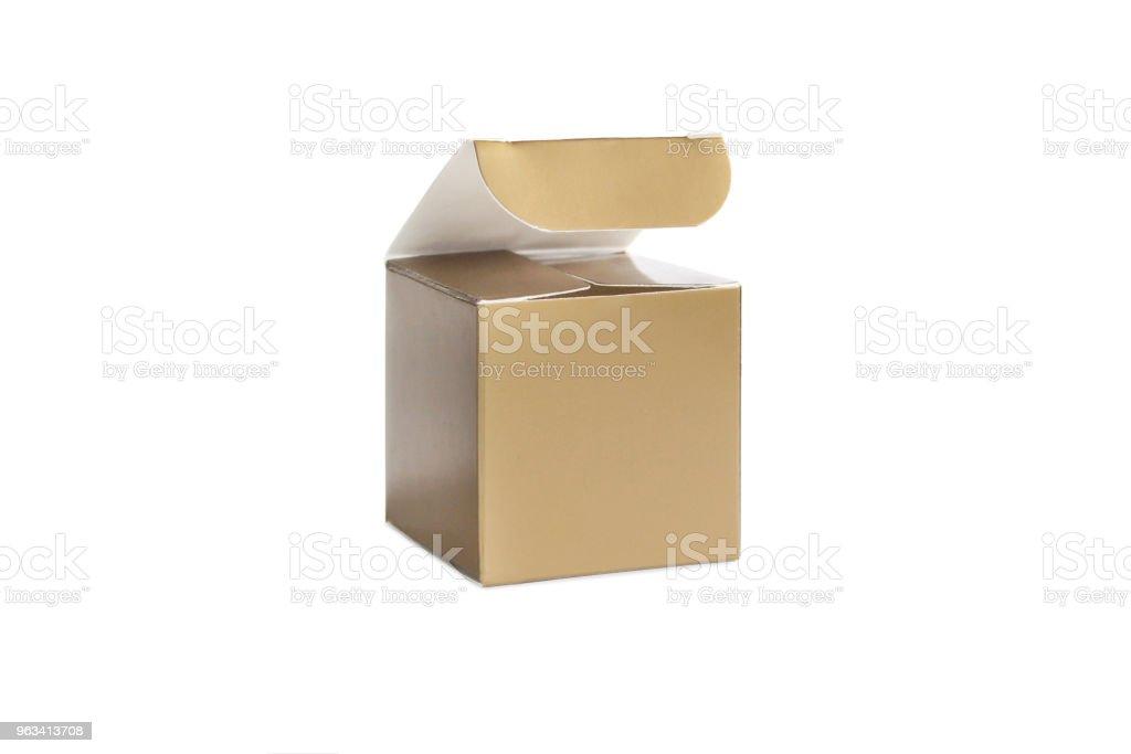 Un emballage vide jaune ouvrir des boîtes de - Photo de Boîte libre de droits