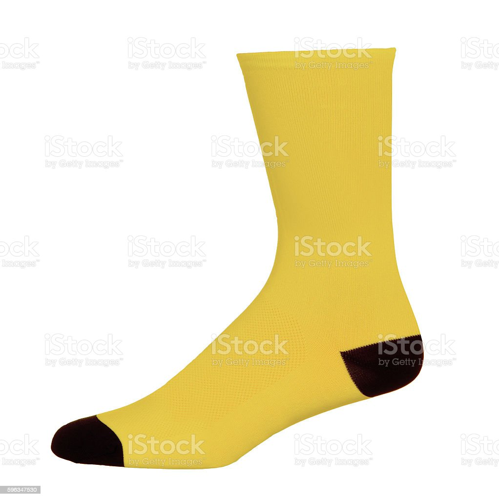 One yellow sock on pure royalty-free stock photo