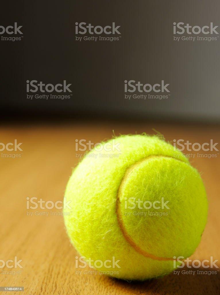 One Yellow Tennis Ball royalty-free stock photo