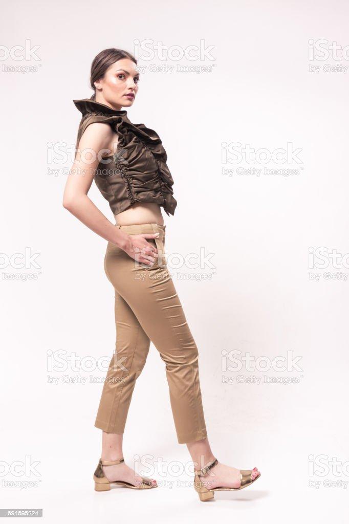 Eine Junge Frau Kaukasischen 20er Jahre 2029 Jahre Mode Model