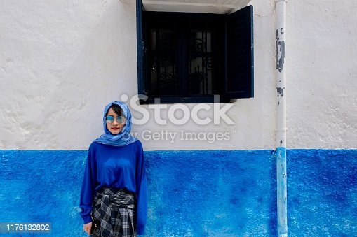 A famous blue and white painting town