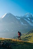 Mountains behind, Jungfrau massive
