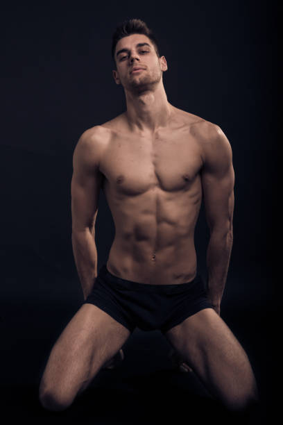 Best Naked Men Male Kneeling Stock Photos, Pictures -4474