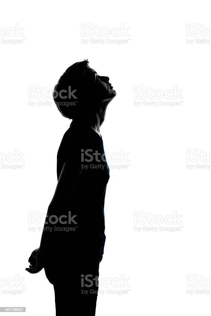 royalty free looking up child silhouette shadow pictures