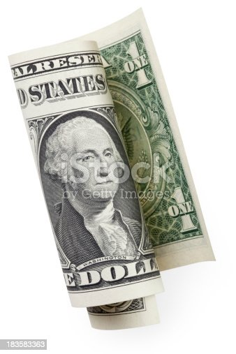 One-dollar bill. Photo with clipping path. Similar photographs from my portfolio: