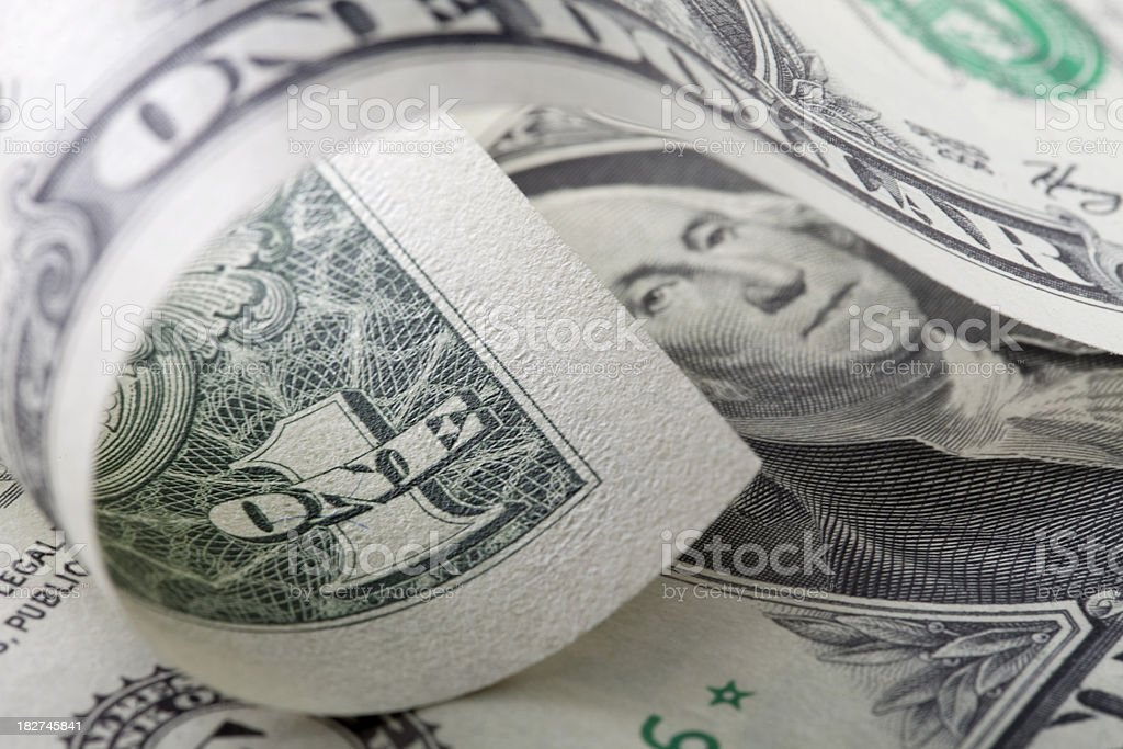 One-dollar bills stock photo