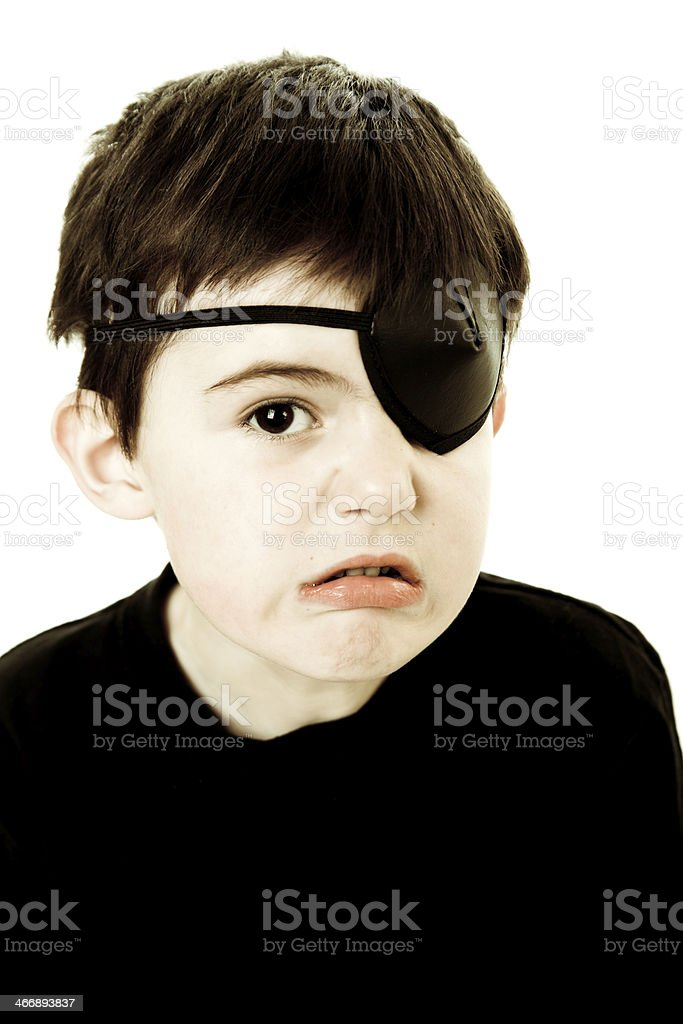 One-eyed kiddo royalty-free stock photo