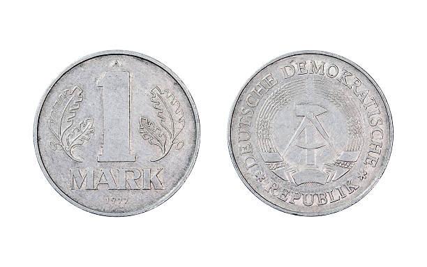 One-Mark-Coin stock photo