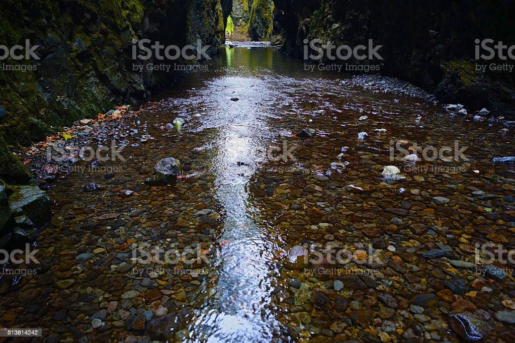 Oneonta Gorge Creek stock photo