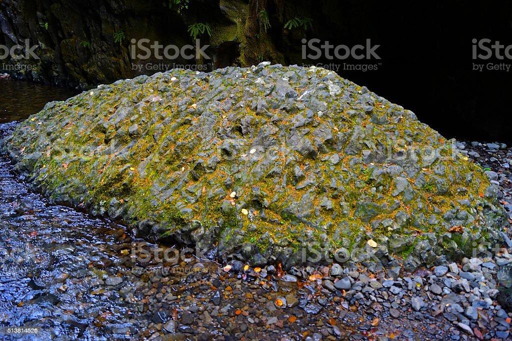 Oneonta Gorge Rock stock photo