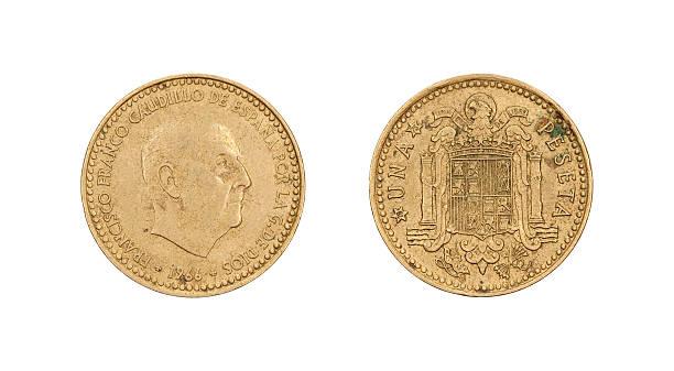 One-Peseta-Coin, Spain, 1966 stock photo