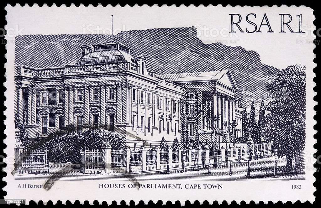 One-rand stamp printed in South Africa royalty-free stock photo