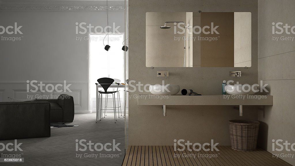 Foto De Oneroom Apartment Interior Design E Mais Fotos De Stock De Apartamento Istock