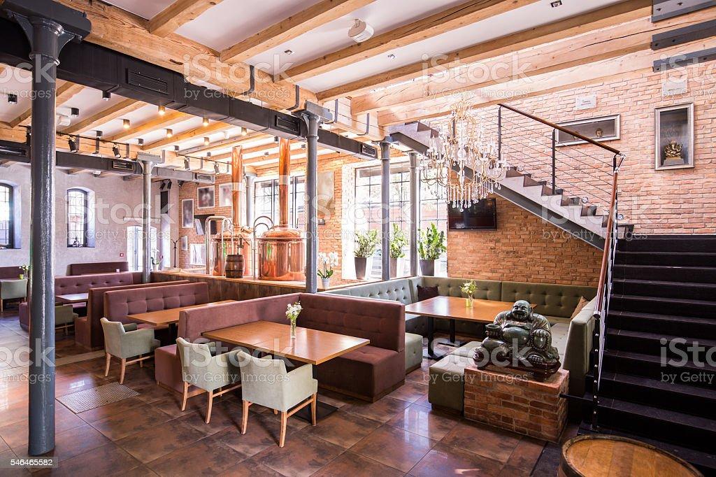 One-story restaurant stock photo
