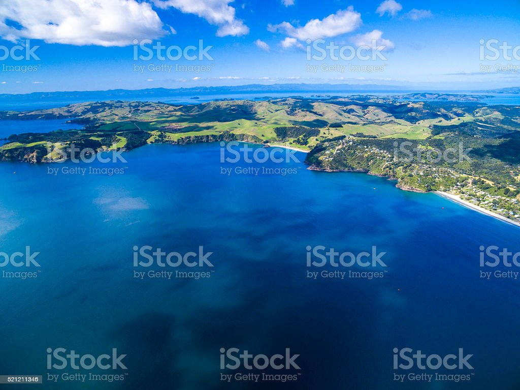 Onetangi Bay stock photo