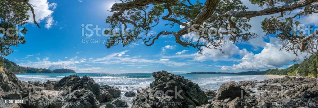 Onetangi Beach Waiheke Island New Zealand stock photo