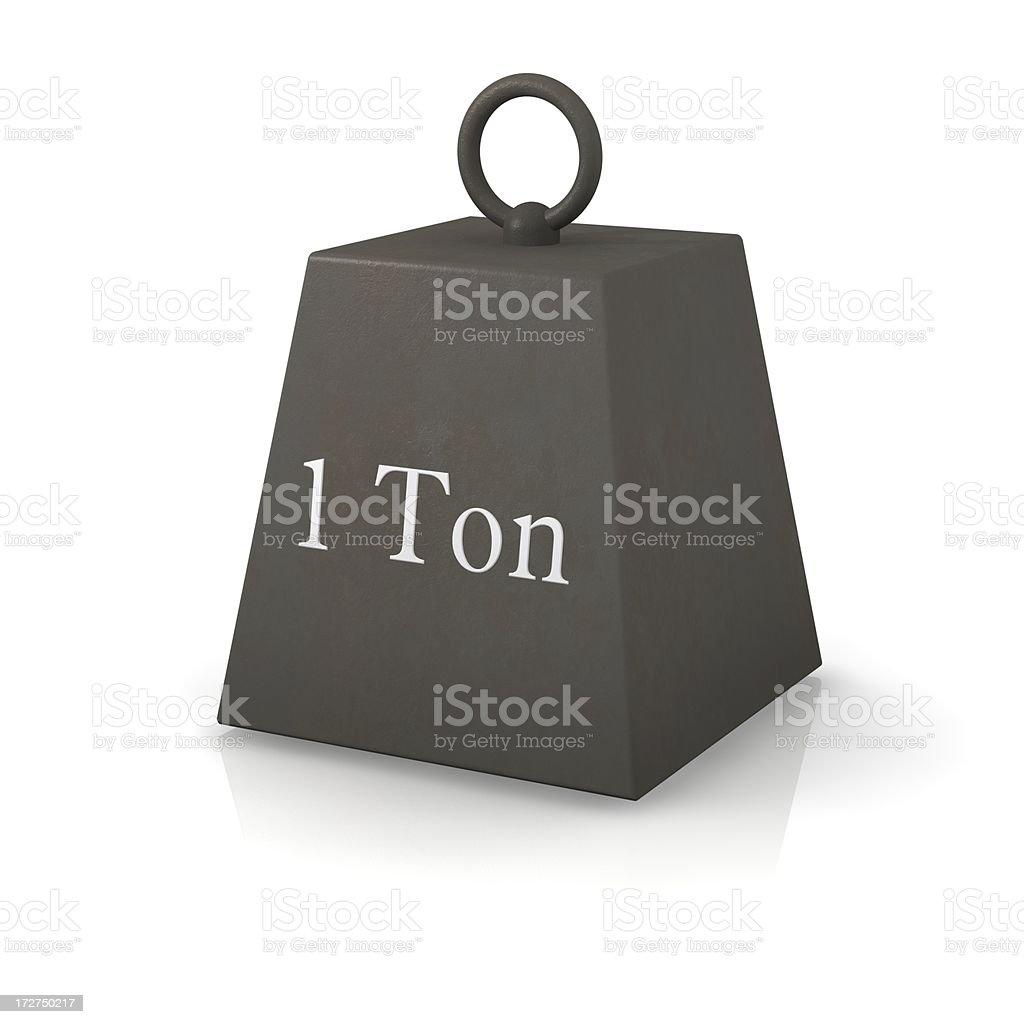 OneTon Weight royalty-free stock photo