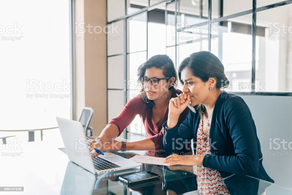 One-to-one business meeting stock photo