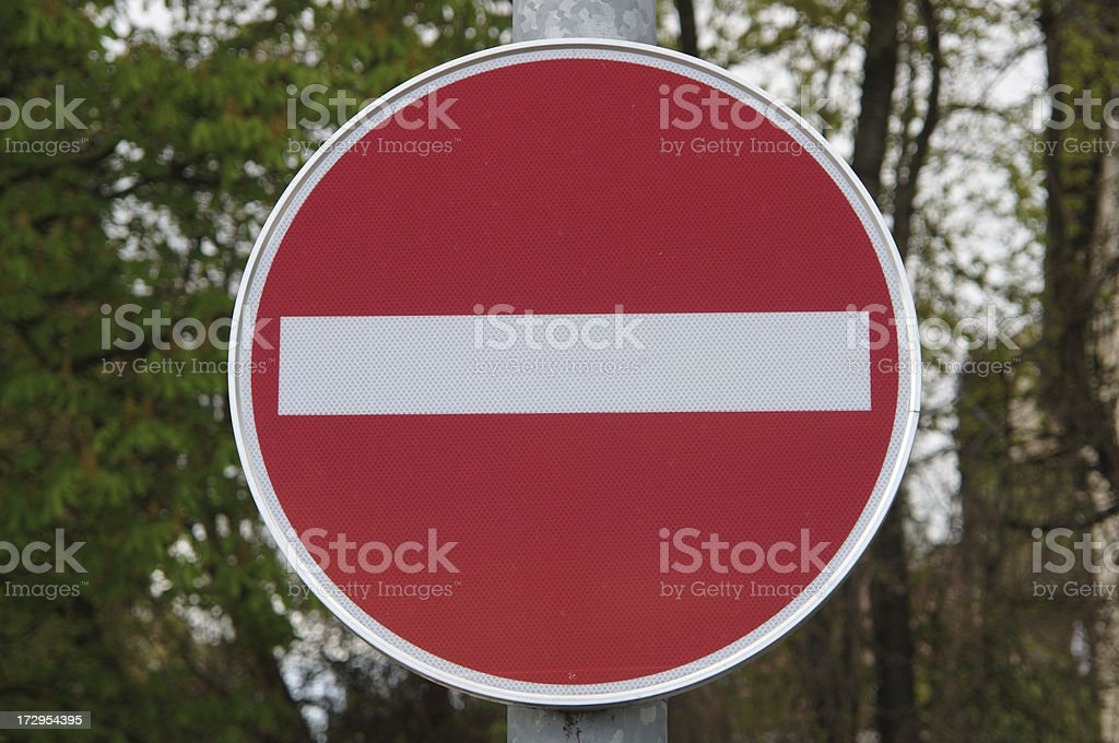 one-way street sign royalty-free stock photo