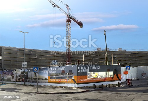 istock ongoing construction of the new Museum of Tolerance in downtown Jerusalem, Israel.  March 5, 2018 959350970