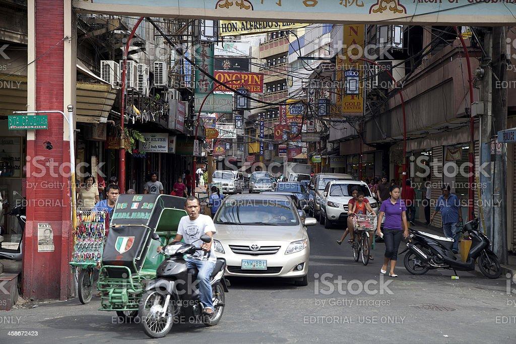 Ongpin Street stock photo