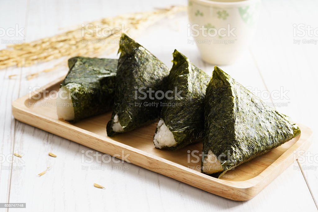 Onigiri, Japanese food stock photo