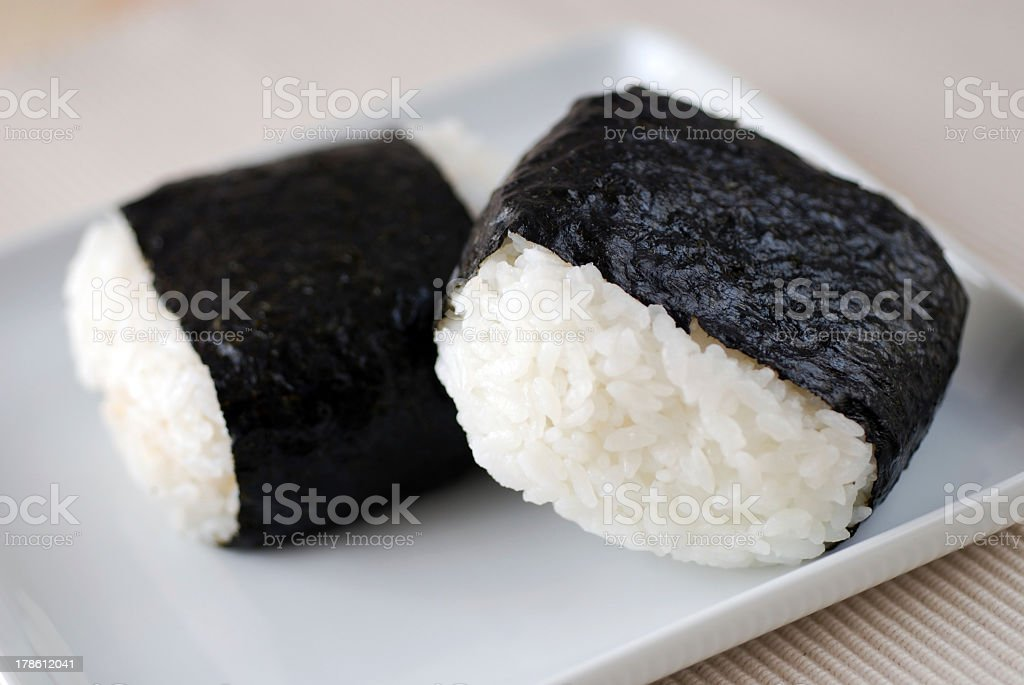 Onigiri royalty-free stock photo