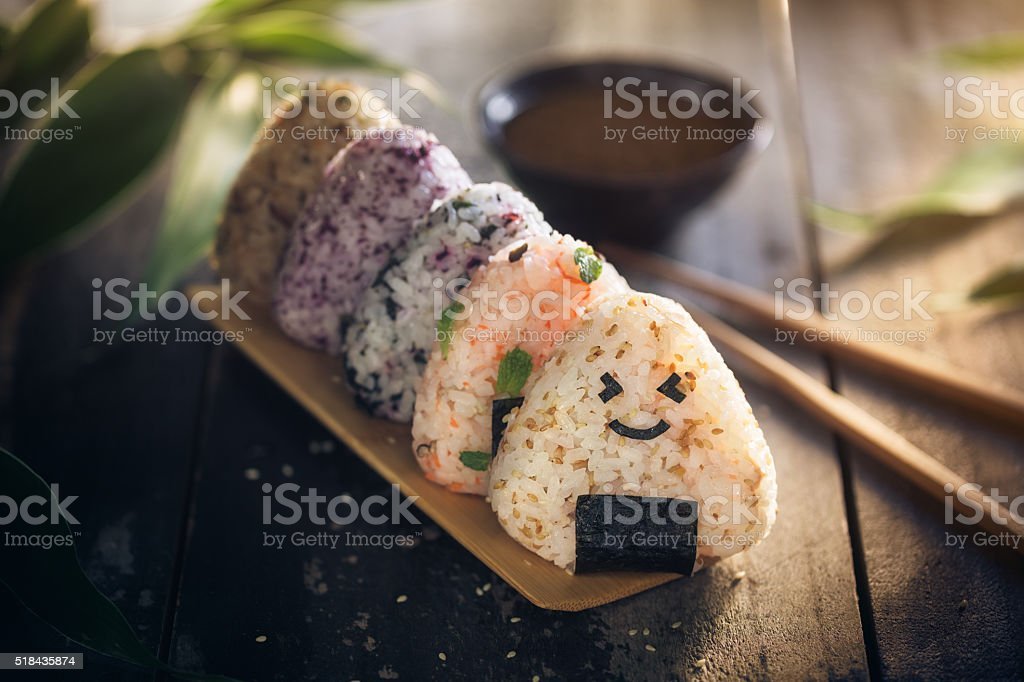 Onigiri stock photo