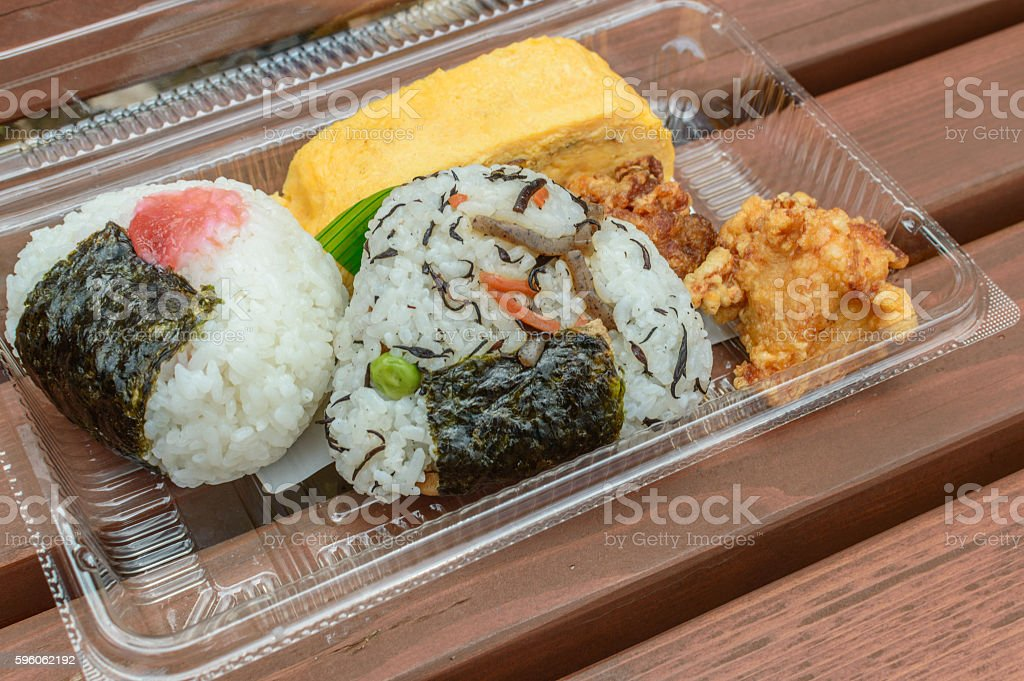 onigiri (rice ball) royalty-free stock photo