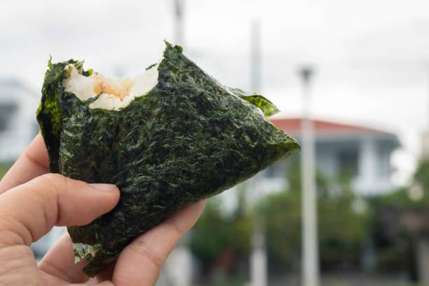 Onigiri With a Bite Taken – zdjęcie