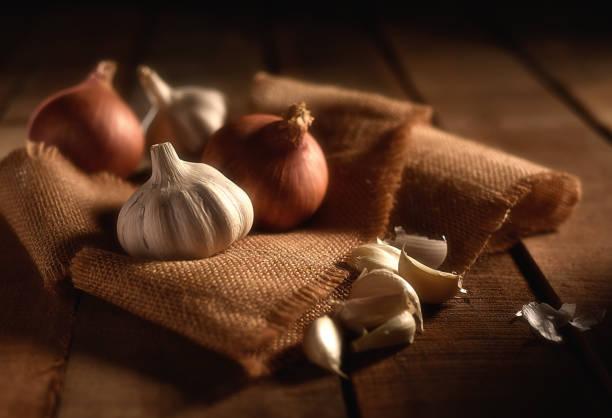 Onion and Garlic stock photo
