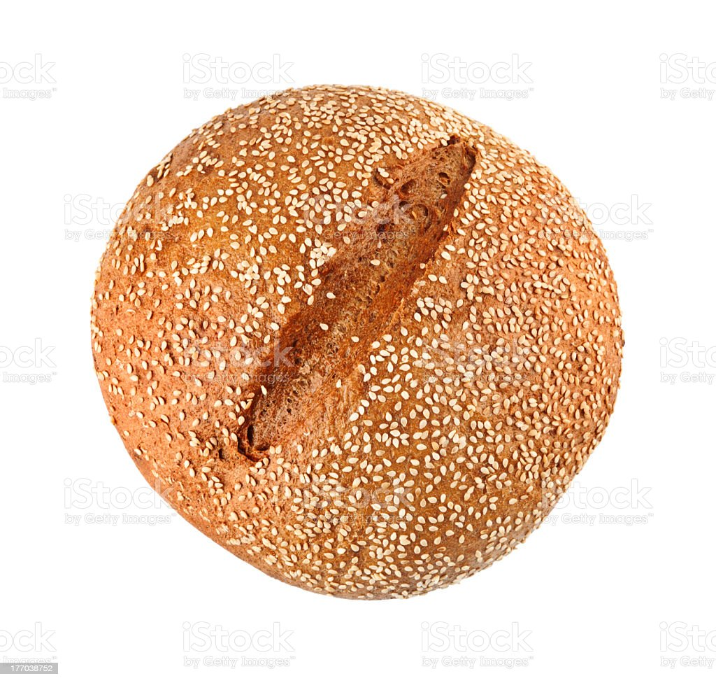 Onion Bread With Sesame Seeds stock photo