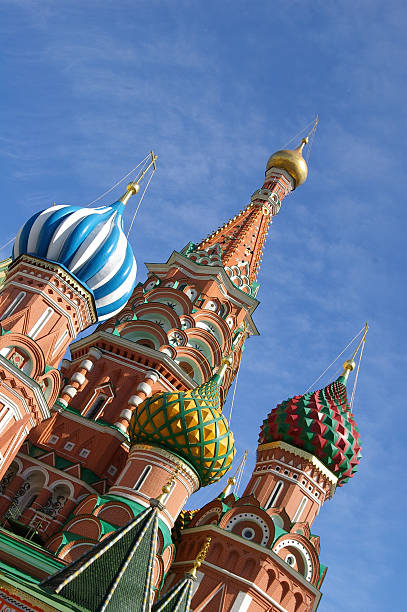 Onion Bulb building in Moscow, Russia stock photo