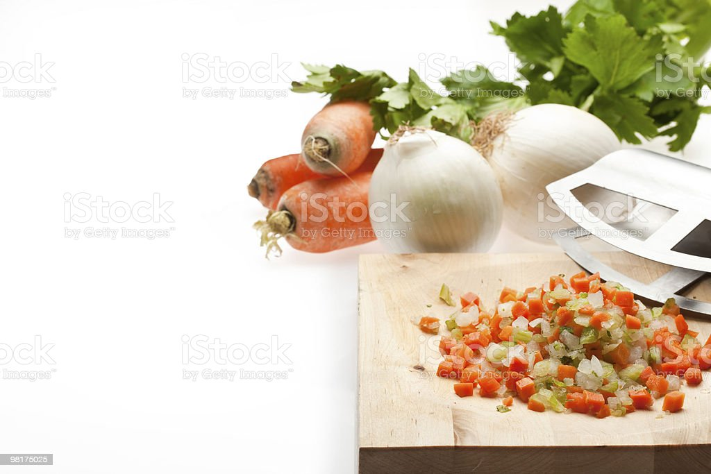 Onion, Carrot and Celery royalty-free stock photo