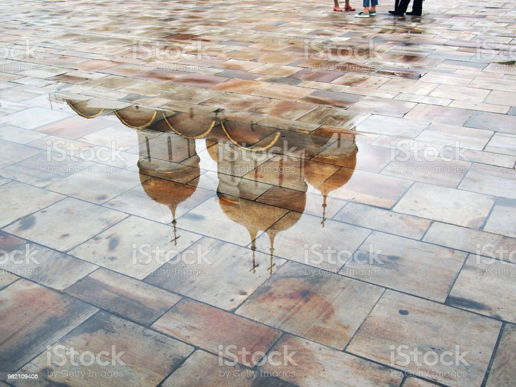 Onion dome reflection. stock photo