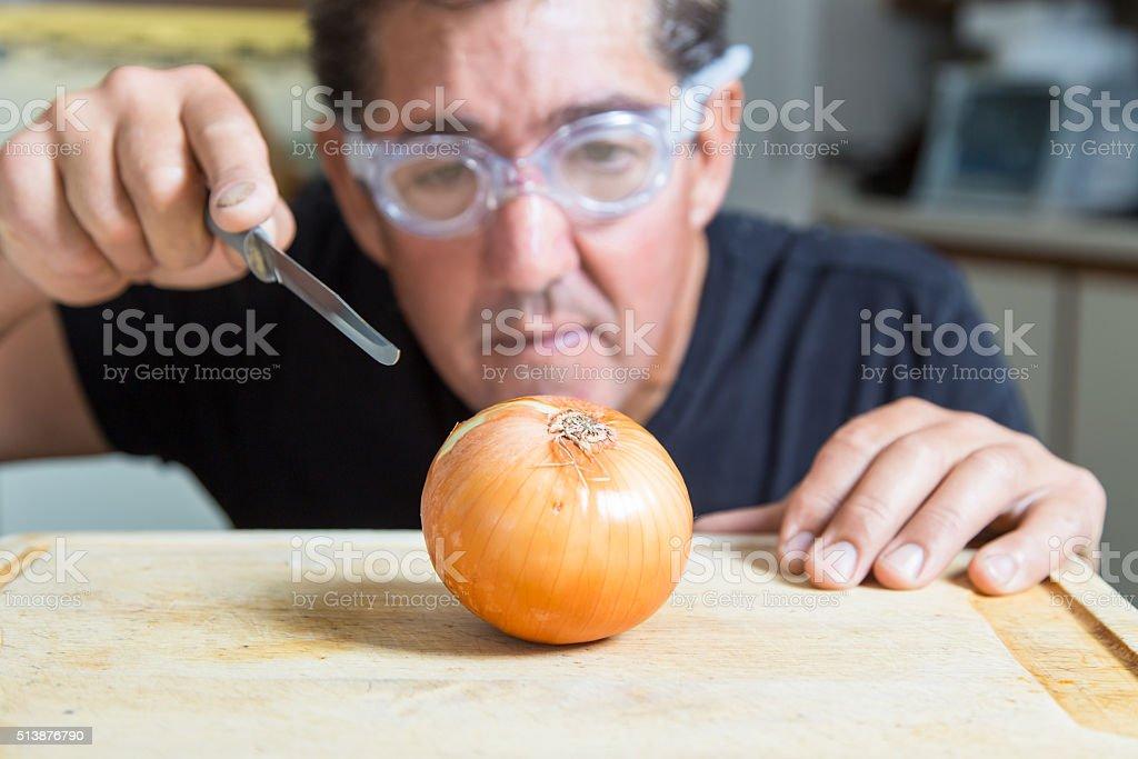 onion goggles stock photo